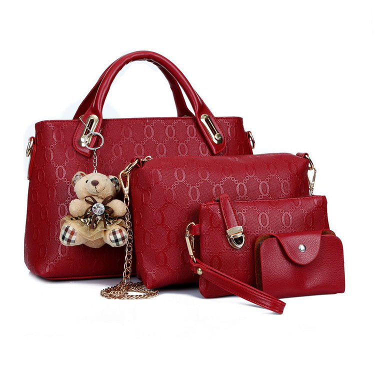 Sac A Main Bear Doll Pendant Sling Bag Women Elegant Handbags Wholesale Handbag Set