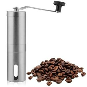 BOOM Hand Coffee Grinder Coffee Press - Ceramic Burr Grinder made with Professional Grade Stainless Steel,coffee mill grinder,coffee mill burr,coffee mill hand grinder,coffee mill manual