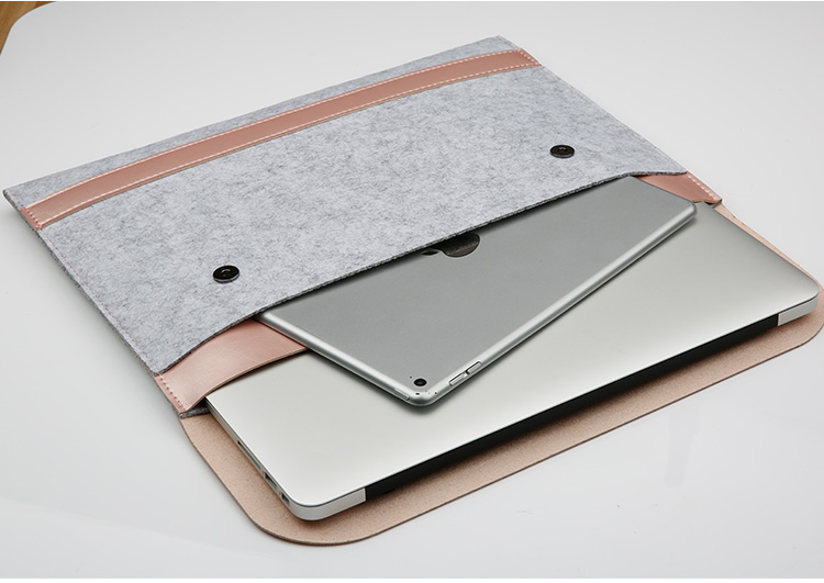 China Modieuze Mini Eenvoudige Multi Kleur Vilt Lederen Tassen Laptop Macbook Pro 13 Case