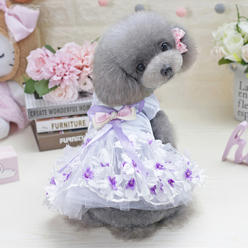 China Supplier Clothing Fashionable Girls Dress Pet Shop Perro Dog Clothes Summer