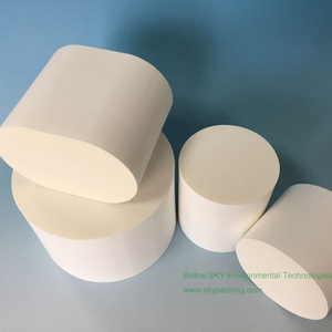 Oval Cordierite Catalytic Convertors Ceramic for automobile Exhaust