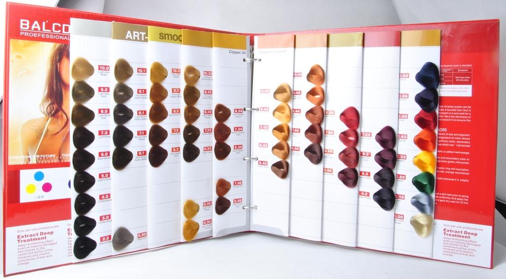 Oem Manufacturer Salon Professional Hair Dye Color Chartcolor
