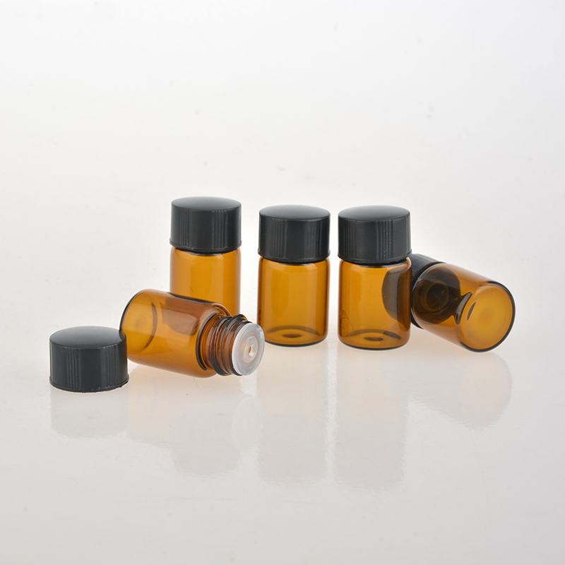 100Pieces/Lot 2ML Brown Glass Perfume Bottle For Essential ... - photo#49