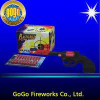 Top quality caps firework gun ground novelty gun fireworks best price spinning fireworks