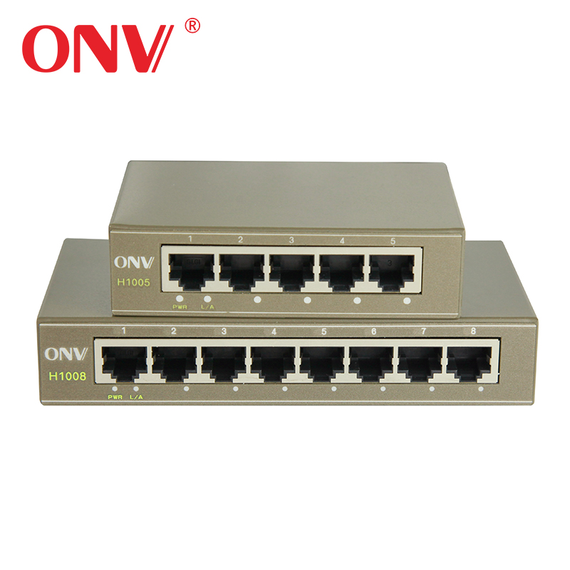 8 Port 10/100M Network Switch for CCTV Surveillance