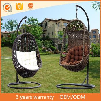 Garden Pe Rattan Hanging Basket Free Standing Swing Chairs Buy