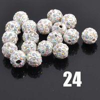 DIY 6MM 8MM 10MM clay crystal fancy loose shamballa beads