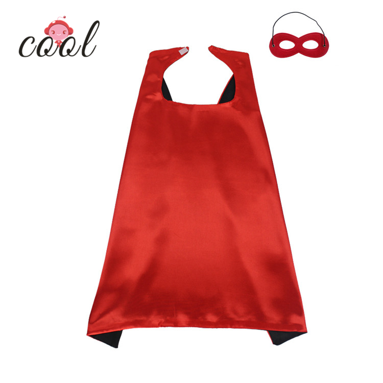 2019 Best price Hot-sale Halloween party <strong>kids</strong> satin cloak double layer wholesale <strong>superhero</strong> <strong>cape</strong> and mask