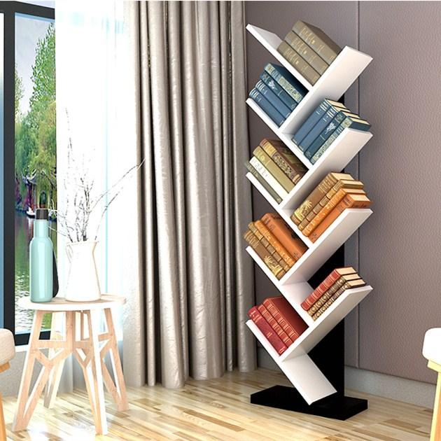 Brief Wooden Tree Bookshelf Living Room Furniture Tree Bookcase For Kids -  Buy Tree Shape Bookshelf,Movable Bookcase,Kids Book Shelf Product on ...