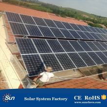 roof solar mounting system 3kw 5kw 10kw 100kw 500kw