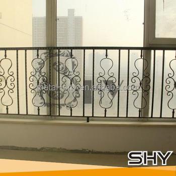 Good price balcony railing wrought iron security window for Good window design