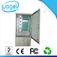 OEM outdoor pedestal mounted type 144 ports SMC fiber optic optical distribution cabinet