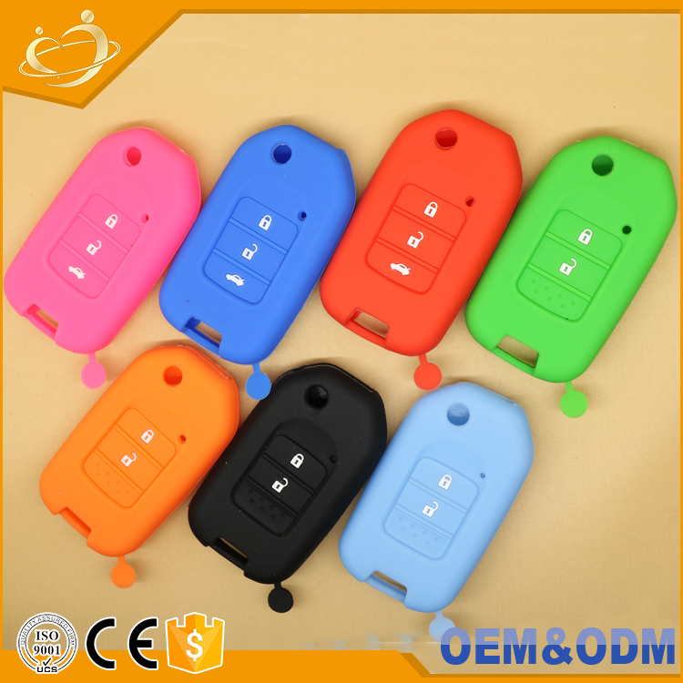 Silicon case new 2 buttons Flip Remote Key Shell Fob folding key cover For Honda accord