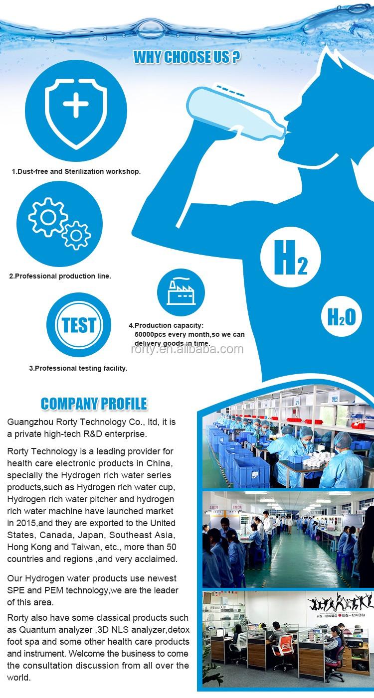 Draagbare Alkaline Waterzuiveraar Alkaline Waterstof Water Filter/Waterstof Water Generator