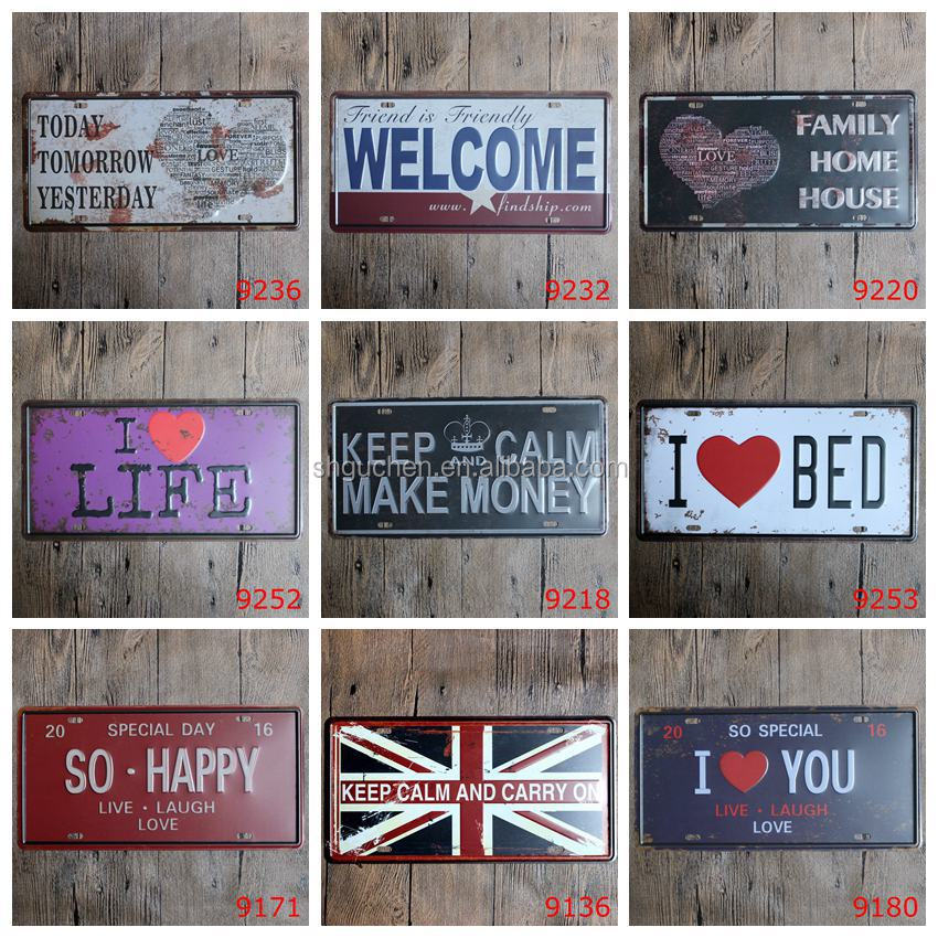 Low MOQ Hot Sale <strong>Metal</strong> Painting Pub Room Hotel Decor Retro Wall Craft Tin Sign (Selected Order link)