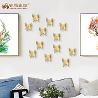 High quality resin home wall decoration 3D animal wall art decor animal butterfly