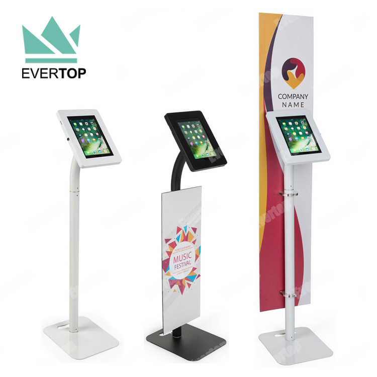 LSF01-C 7-10 inch Security Floor Free Standing Tablet Kiosk Display Stand Lockable Anti-theft Tablet PC Kiosk for iPad android