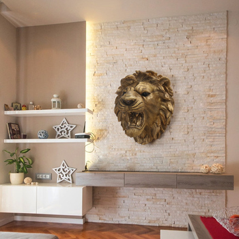 Tiger Head Statue Resin Wall Hanging