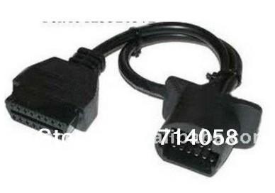 Toyota 17 булавка obd 2 коннектор 17pin до 16 булавка женское OBD2 диагностический адаптер автомобиль кабель