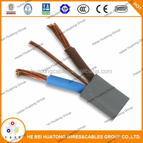 6242Y BS6004 PVC Insulated PVC Sheatehd Flat Cable Twin and Earth Cable