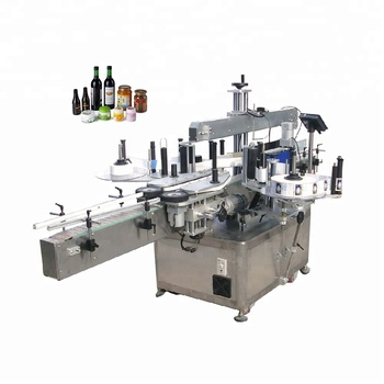 Automatic double sides adhesive sticker labeling machine for bottle