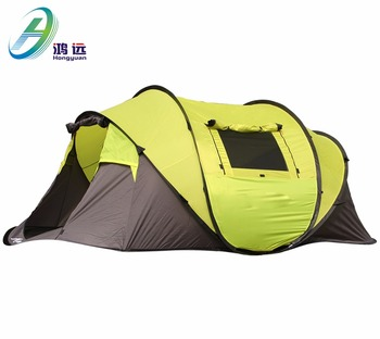 Waterproof 5 Person Green outdoor camping tent easy folding camping tent