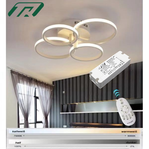 2.4G  Wireless Remote Control Smart dimmable CCT adjustable LED driver