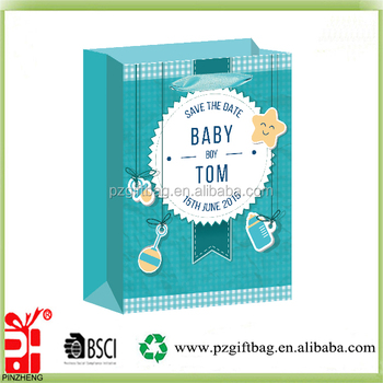 Alibaba China unique design baby clothing packaging paper bag wholesale