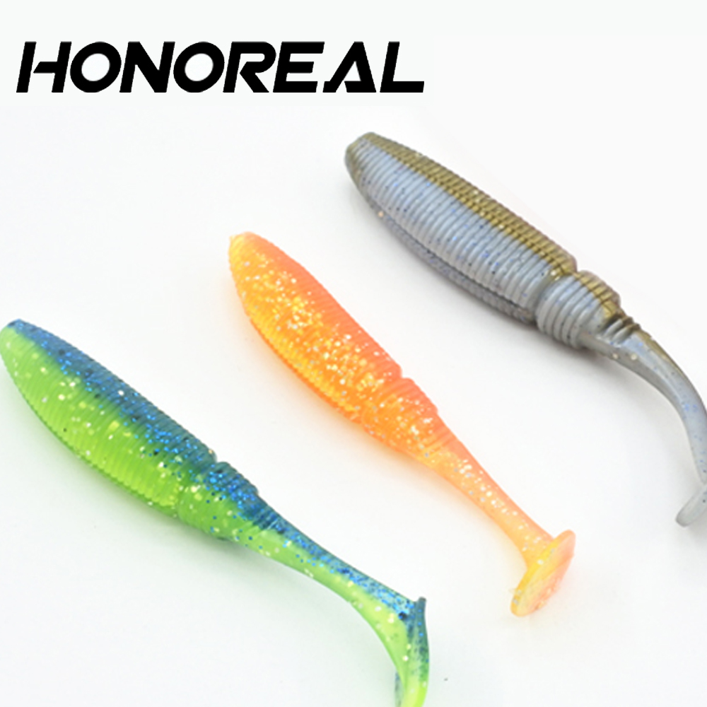10cm double color shad fishing soft plastic lure molds