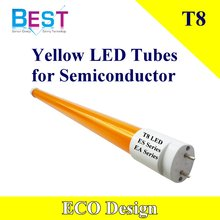 Yellow LED Tubes T8 for Semiconductor; no uv t8 yellow light
