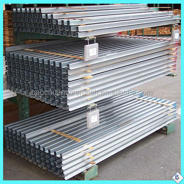 cheap price powder coated Galvanized steel fence poles
