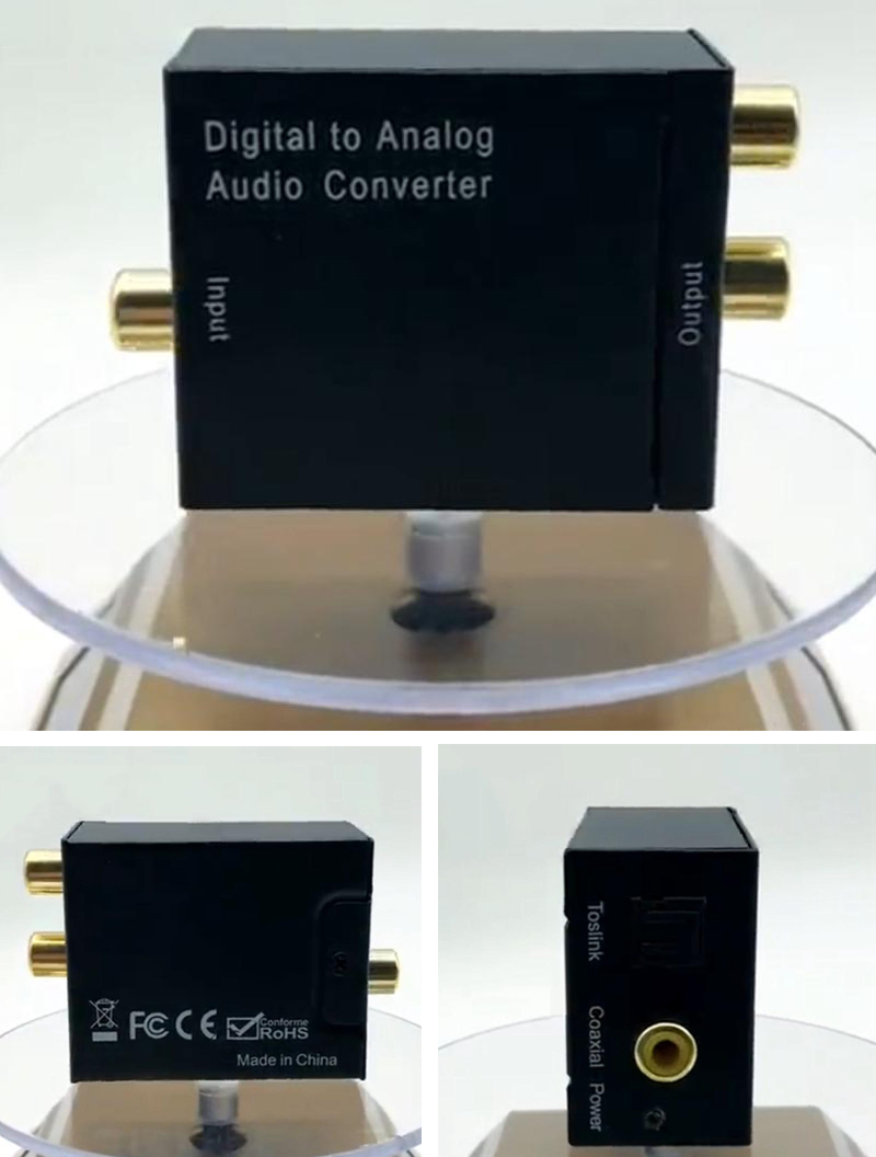 2020 Hot Digital Optical Coaxial Toslink to Analog L/R Audio Converter Compatible with PS3, Xbox, Blue-ray player, HD DVD, etc.