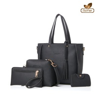 Hot selling ladies leather bags handbag sets new women 4 pcs handbag set