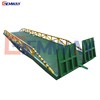 Hydraulic portable container truck loading lift ramp