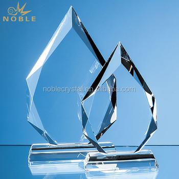 customized peak award plaque crystal blank trophy buy crystal