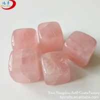 Whiskey stone tumbled stones wholesale semi-precious rose quartz