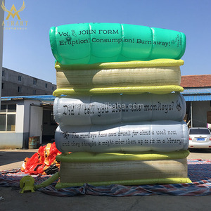 custom inflatable book paper model for event show decoration