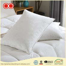 100% Cotton Cover Custom Square Duck Down Pillow For Sleeping