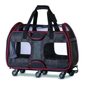 Pet Carrier Airline Approved Soft-Sided Dog Carrier bag with wheels Functional folding Crate for Cat Puppy Dog Pets