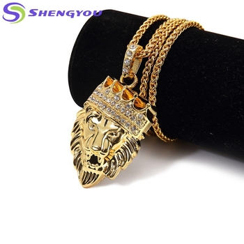 53baa474de807 Wow So Cool Style Gold Chain With The Lion King Diamond Plated Pendant  Necklace For Christmas Gift - Buy Lion Pendant Necklace,Gold Chain ...