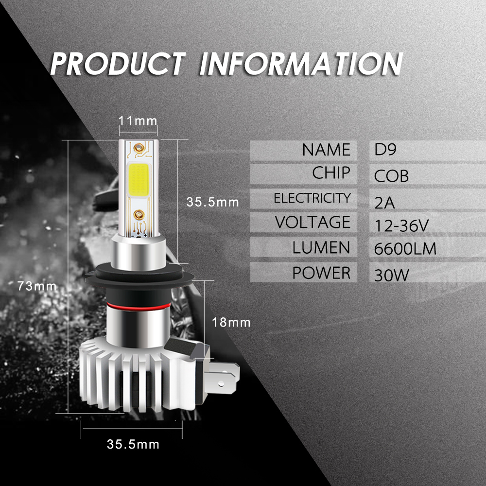 Factory Professional production new fog led light for car headlights H7 bulbs DC 12V