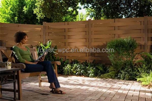 Frstech compuesto de pl stico de madera wpc valla paneles de la cerca del jard n de los - Paneles de madera para jardin ...