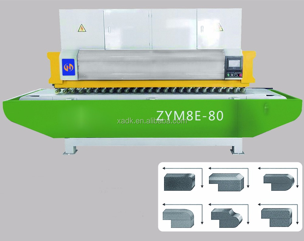 ZYM8E-80 full automatic multiheads stone Edge Polishing Machine for Marble and Granite