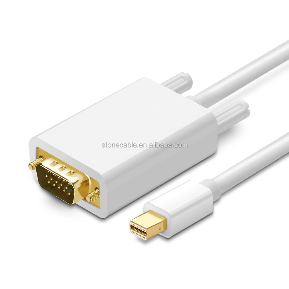 Thunderbolt Mini Displayport to VGA Cable Adapter For MacBook Pro Air iMAC