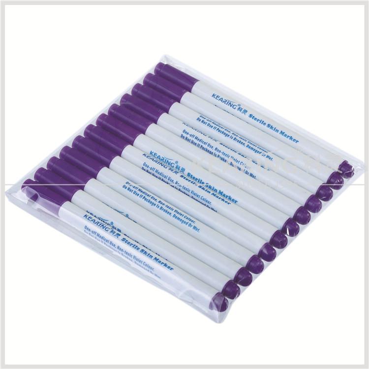 Skin Safe Marking Pen / Violet One Off Use Surgical Skin Marker ( 1 0 Mm  Tip ) Wtih Ruler # Sm10 - Buy Skin Marker Pen,Skin Safe Marking Pen,Skin