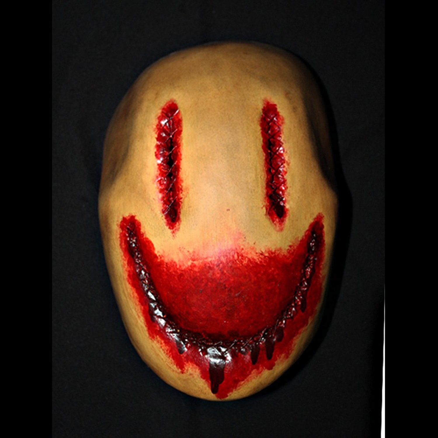 1:1 Custom Halloween Costume Cosplay Latex Smiley Mask LA11