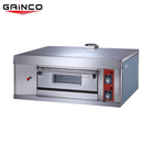 Single deck industrial pizza gas oven/commercial pizza oven with gas/oem pizza oven gas