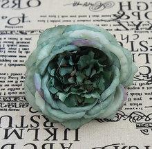 11 шт. искусственная декоративная Пионовая головка имитация чайной розы DIY шелковая Цветочная головка для свадебной домашней вечеринки(Китай)