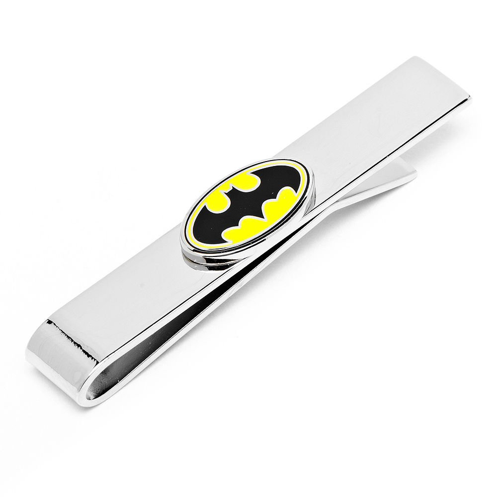 4897dcd07da7 Get Quotations · cufflink Men's Executive Tie Bar Classic Yellow Black  Batman DC Comics Liscensed Tie Bar Tie Clip