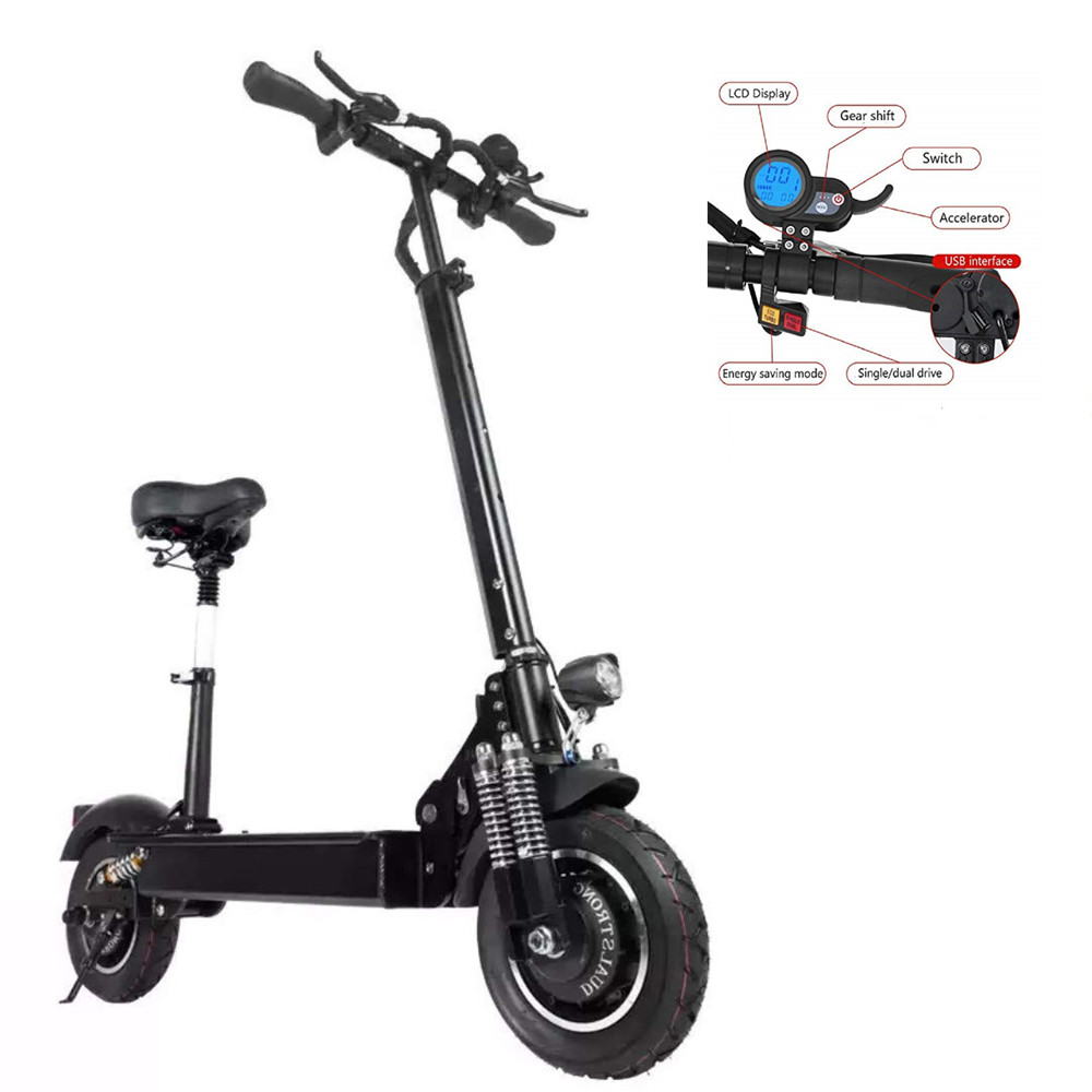 Yume 2000w 2 Wheel 10inch Folding Off Road Electric Scooter fast 65-75MPH, N/a